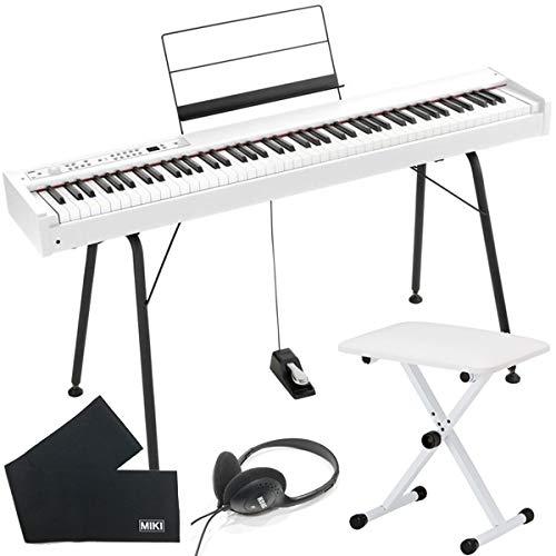 KORG 電子ピアノ D1 (88鍵) + 純正スタンド + ピアノ椅子 + ヘッドホン + 鍵盤カバー セット