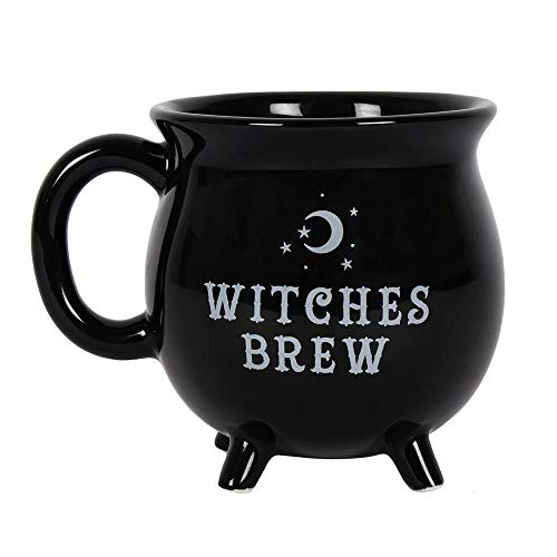 Pacific Giftware Witches Brew Black Ceramic Cauldron Mug