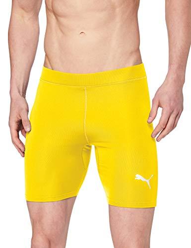 PUMA Liga Baselayer Short Tight Pantalones Cortos, Hombre, Amarillo (Cyber Yellow), S