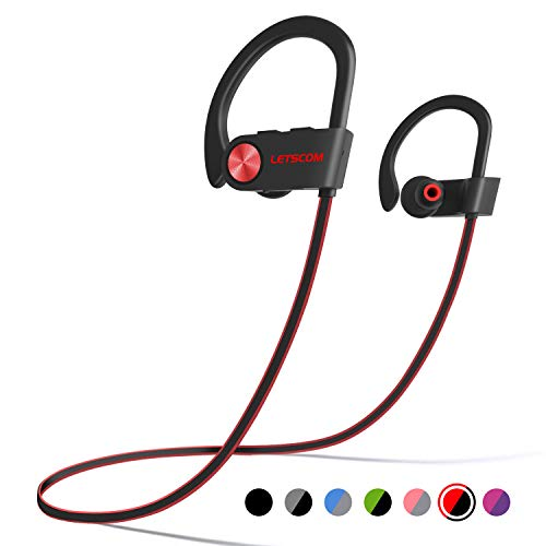 LETSCOM Bluetooth Headphones IPX7 Waterproof, Wireless...