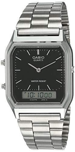 Casio Orologio analogico-Digitale al Quarzo Uomo con Cinturino in Acciaio Inox AQ-230A-1DMQYES