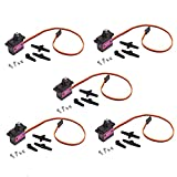 Songhe MG90S Mini Metal Geared Micro Servo Motor 9G for RC Helicopter Plane Boat Car Trex450 5pcs