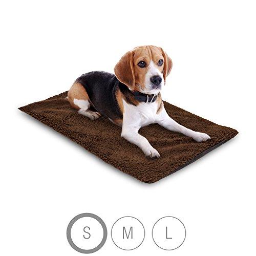 Bella & Balu Haustier Thermodecke inkl. Mikrofasertuch zum Reinigen der Pfoten – Selbstheizende und isolierende Thermomatte mit kuschelig-weichem Bezug für Hunde und Katzen (S | 65 x 46 cm)