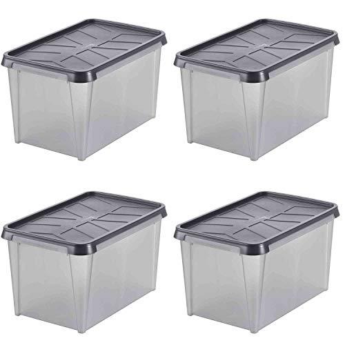 SmartStore 346-2050 Dry Aufbewahrungsbox, wasserdicht, 33 Liter, 60 x 40 x 35 cm (4 Stück)