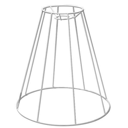 SMITS Lampenschirmgestell, weiß plastifiziert, Ø o. 15cm, Ø u. 35cm, h 35cm