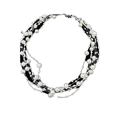 TUANTALL Anhänger Halskette Herren Halskette Halsketten Halsreif Gesetzt Gotischer Perlenhalskette Perlenhalsband Mädchen Halsbandkragen Perlenkette Für