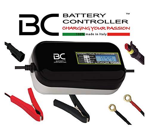 BC LITHIUM 7000 - 12V 7A - Cargador y Mantenedor de Carga Automático y Digital para Baterías de litio/LiFePO4 + Comprobador de Batería y Alternador