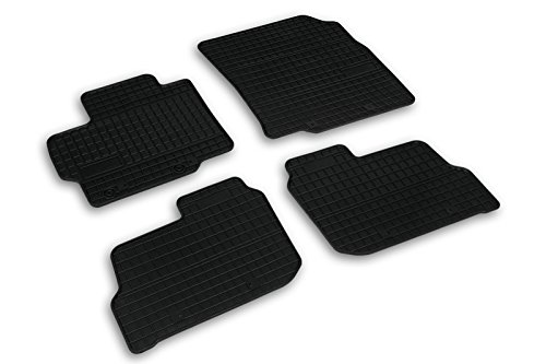 Frogum 0486 Gummimatten Auto Fußmatten Gummi Passgenau 4-teiliges Automatten Set Schwarz