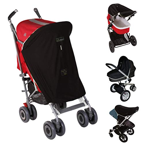 Snoozeshade Original Parasol para cochecito de bebé negro edición limitada, gris acero Talla:talla Universal