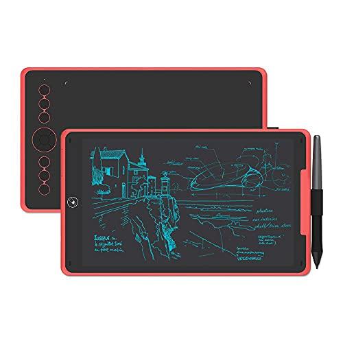 Xyfw Tableta De Dibujo Gráfico Y Tablero De Escritura Digital LCD Tableta De Escritura A Mano con Lápiz Óptico Sin Batería para Android/PC