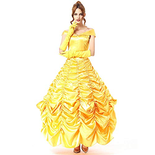 NiQiShangMao Beauty Beast Cosplay Costume Set Coppia Costumi Princess Belle Dress Prince Beast Halloween Outfit Uomo Donna