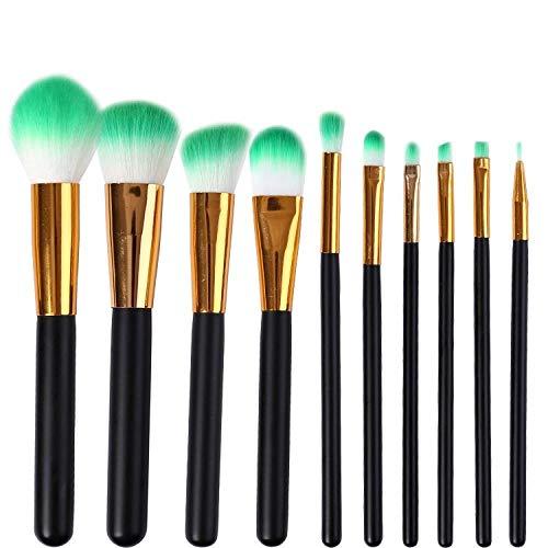 Pinceaux De Maquillage 10 Fondation Blush Brosse Fibre De Maquillage Cheveux Brosse Portable