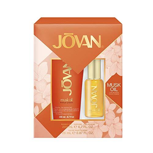 Jovan Musk Oil For Her Geschenkset Eau De Toilette + Duschgel, 232.36 G