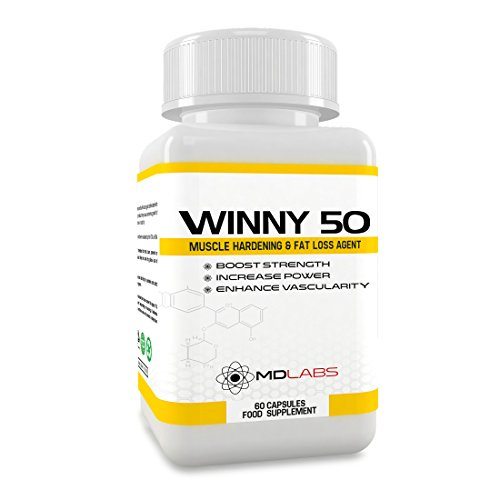 MD Labs Winny 50 - Legal Bodybuilding & Lean Mass Supplement/Performance Recovery Aid / 60 Capsules / 30 Day Supply/UK Manufactured
