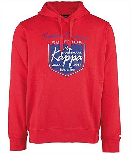 Kappa Sweat-Shirt à Capuche Valentino Racing Red, 530, XL Rouge