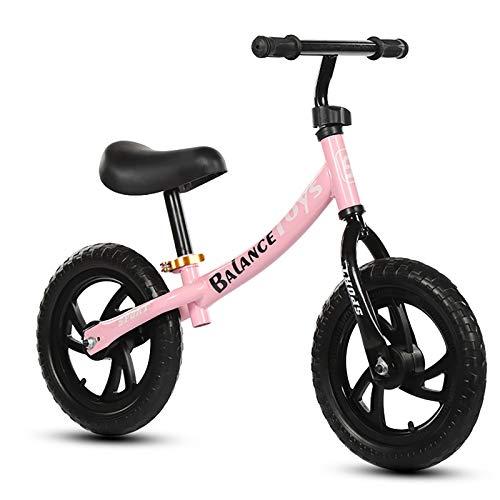 Balance Bikes Leichtes Laufrad, Kindertrainingsrad Mit Höhenverstellbarem Sitz Und Lenker, Keine Pneumatischen Eva-Reifen, Keine Pedale (schwarz, Weiß, Pink)
