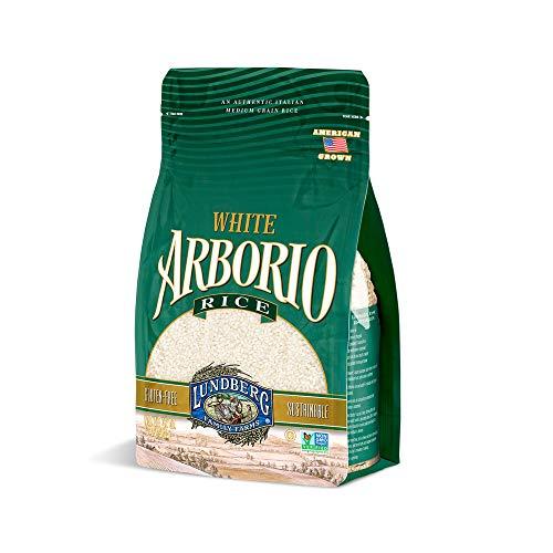 Lundberg Family Farms - White Arborio Rice, Rich Flavor, Creamy Texture, Perfect for Risotto, Rice Pudding & Soups, Pantry Staple, Sustainably Farmed, Gluten-Free, Non-GMO, Vegan, Kosher (32 oz)
