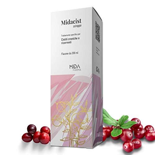 D-Mannosio MIDACIST MIDA FARMA | 2000 Mg | Con Mirtilli Rossi e Fermenti Lattici | 200 ML | Per cistiti e benessere delle vie urinarie