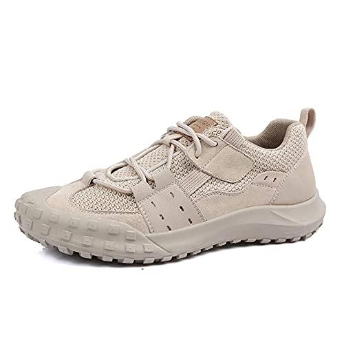N\C Hombres Zapatos Ventilación Antideslizante Zapatos de Escalada Piel de Vaca Deporte al Aire Libre Zapatos de Senderismo Zapatillas de Deporte para Caminar a Campo traviesa39-44