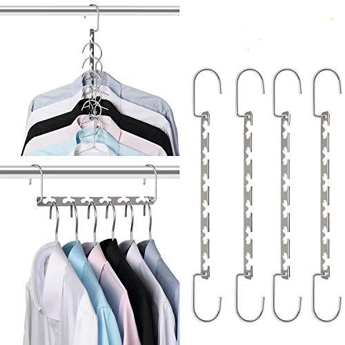 Giftol Space Saving Hangers Metal Hanger Magic Cascading Hanger Closet Clothes Organizer(20 Pack)