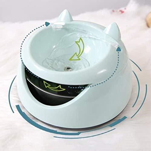 Fuente de agua para gato, dispensador eléctrico de agua USB súper silencioso sano de 1,5 l