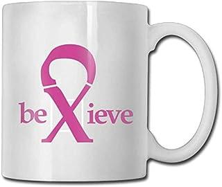 Croyez la tasse de café faite sur commande de ruban rose 11 tasse de thé de cadeaux en céramique classique de garçons de g...