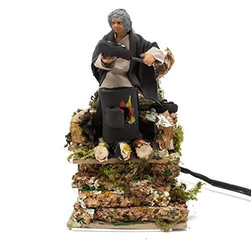 Joy Christmas Pastore per Presepe in Movimento 14 cm x 9 cm Caldarrosto - 49569