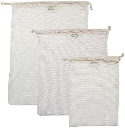 Simple Ecology Organic Cotton Mesh Laundry Bag Machine Washing Bags for Delicates Lingerie and product image