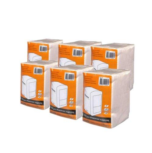 Cabanaz - Lote de Paquetes de servilletas para servilletero (6 Paquetes de 250 servilletas Cada uno)