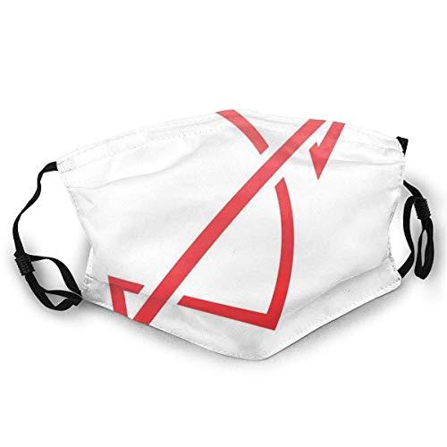 AISIJD Reutilizable y lavable, patrón de horóscopo minimalista simple con rayas curvas del zodiaco, para ciclismo, camping, viajes, talla única.