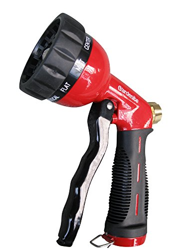 Garden Hose Nozzle / Hand Sprayer - Heavy Duty 10 Pattern Metal Watering Nozzle - High Pressure -...