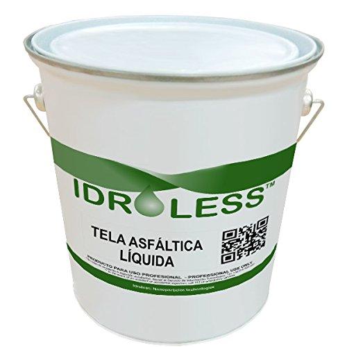 Tela Asfáltica Líquida - Idroless (5 kgs, color Negro): membrana impermeabilizante continua muy resistente