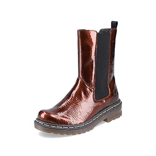 Rieker Damen Chelsea Boots 76280, Frauen Stiefeletten,Schlupfstiefel,Women's,Woman,Lady,Ladies,Boots,Stiefel,Bootee,Booties,braun (25),38 EU / 5 UK