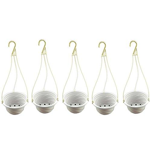 Wilove 5 Pack Hanging Planter Basket Indoor/Outdoor Hanging Flower Pots Plants Holder Hanger Hooks for Home Decor