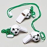 Baker Ross Sifflets Ballon de foot (Lot de 6) - Petits cadeaux pour pochettes surprises pour les enfants