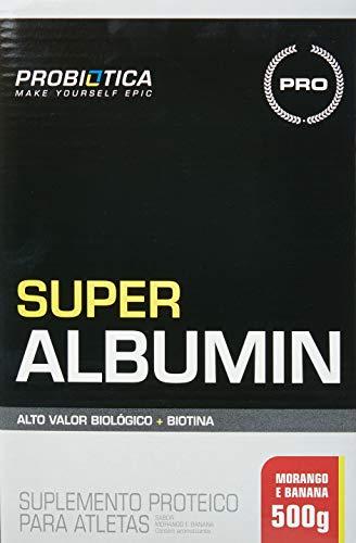 Super Albumin , Probiótica, Morango con Banana, 500g
