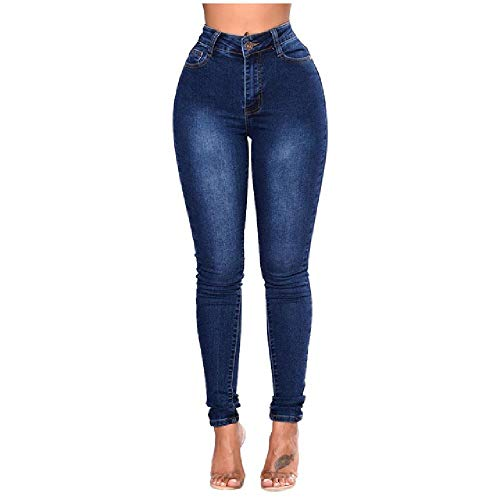 NOBRAND Pantalones Ajustados de Talle Alto Pantalones Cortos de Mujer Pantalones Vaqueros de Mezclilla Ajustados de Cintura Alta Pantalones elásticos Ajustados Pantalones hasta la Pantorrilla