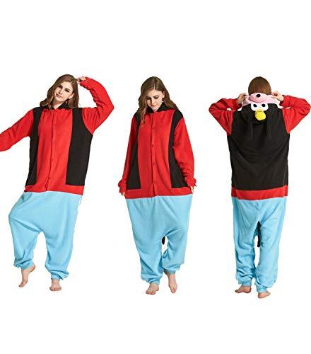 Tier Onesies Pyjama Erwachsene Cartoon Unisex Jumpsuit Weich Warm Tierpyjamas mit Kapuze Niedliche Kostüm Onesie Hausanzug Baumwolle Nachtwäsche für Cosplay Home Fasching Goofy Hund XL
