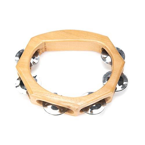 Orient Express Tambourin hout, klokkrans van hout, tambourine, muziekinstrument, verschillende maten, handgemaakt product