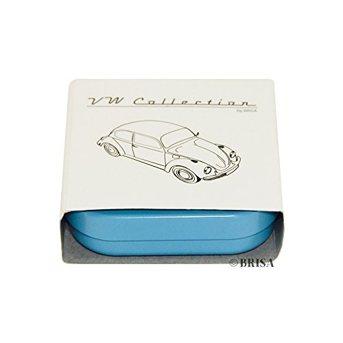 BRISA VW Collection - Volkswagen Beetle Key Ring in Embossed Gift Tin (Blue)