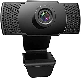 1080P Webcam with Microphone, FRIEET HD Streaming Web Camera, Plug and Play, Wide Angle USB Camera Compatible with PC Comp...