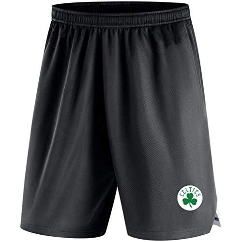 RLYJZ Lakers Raptors Warriors Nets Bucks Rockets Celtics Grizzlies De Los Hombres Baloncesto Pantalones Cortos, Chico Verano Casual Suelto Movimiento Pantalones Cortos,13,L