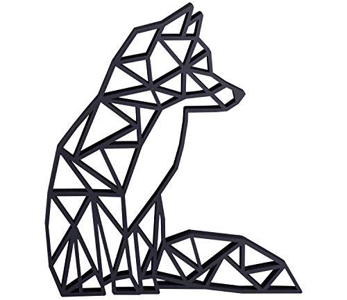 LAUBLUST 3D-Origami - Fuchs Design - ca. 14x15cm, Schwarz | Standdekoration &...