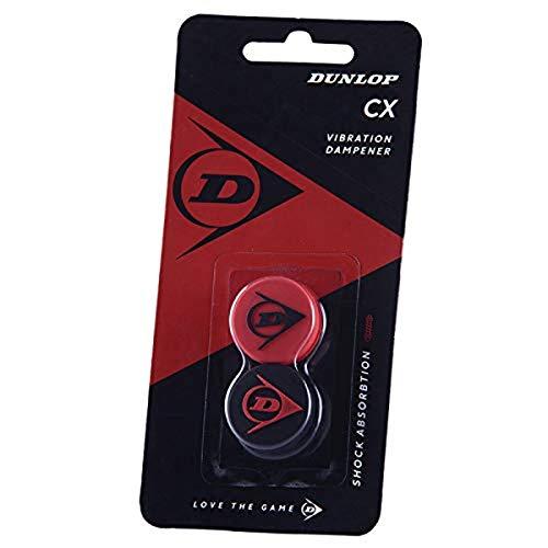 Dunlop Unisex-Adult 10288358 Tennis Racket Dämpfer Flying D rot/schwarz 2 Stück, One Size