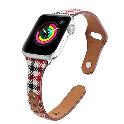 KAEGREEL Correa elástica Solo Loop Compatible con Apple Watch Band 44 mm 42 mm 40 mm 38 mm, Correa de Repuesto de Nailon Deportivo Suave Compatible con iWatch Series 6/5/4/3/2/1 / SE,38mm/40mm