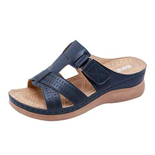Zomer Dames Muilezels Stiksels Open Teen Casual Strandschoenen Comfortabele Slip Mode Pumps Plateau Wedge Rome Sandalen