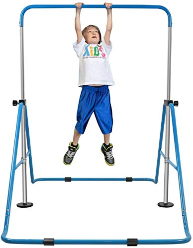 YEEGO DIRECT Gymnastics Garden Bar, Turnreck Gymnastik Kinder Höhenverstellba Turnstangen Horizontale Faltbar Junior Kip-Bar Gymnastik Trainingsgeräte Horizontal Home Gym Training Ausrüstung