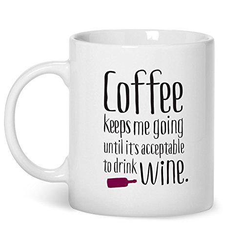 Funny Mug Gift Coffee Keeps Me Going for Women Novelty Mug with Quotes...