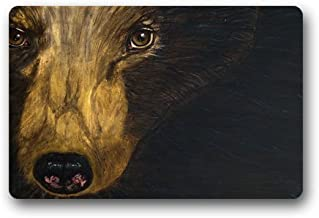 Black Bear Painting Customized Doormat Entrance Mat Floor Mat Rug Indoor/Front Door/Bathroom/Kitchen and Living Room/Bedro...