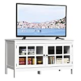 Tangkula TV Stand Cabinet, Modern Wood Large Wide...